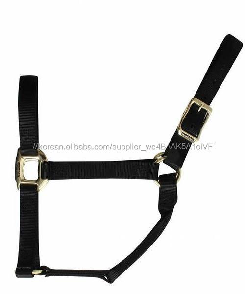 Black nylon horse halter Custom head collar Manufacturer Kanpur