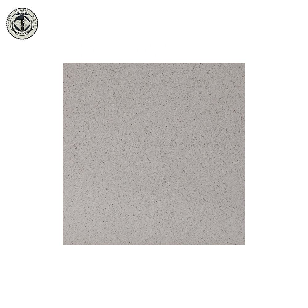 Good Quartz Surface Polished Man-made Pure Dark Grey Quartz Stone Countertop Tile Table Tops