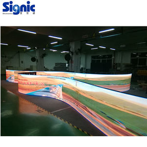 P2.5mm P3mm P4mm flexible transparent led curtain display for advertising flexible mini led screen flexible led display rubber