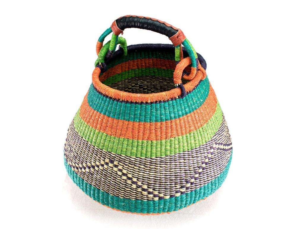 Natural Seagrass Storage Basket Easter Bolga Basket Made In Vietnam