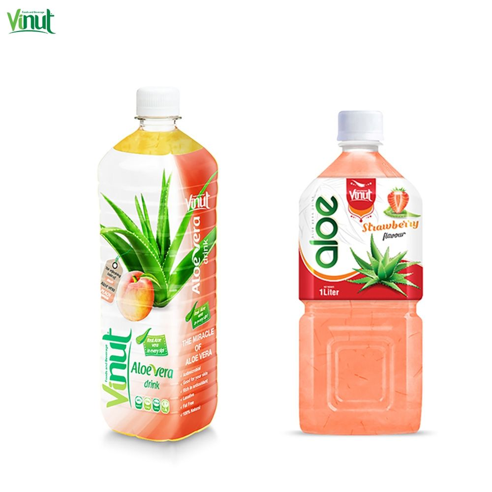 1.5L VINUT Brand Price Aloe Vera Juice with Strawberry Bulk Puree Bottle Can (tinned) Fresh-squeezed Kosher Normal HACCP GMP ISO