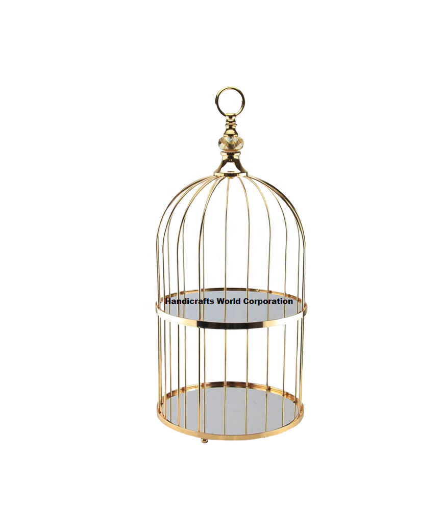 2 Tier Bird Cage Cake Cupcake Dessert Stand for Restaurant Banquet Halls and Wedding Caterers