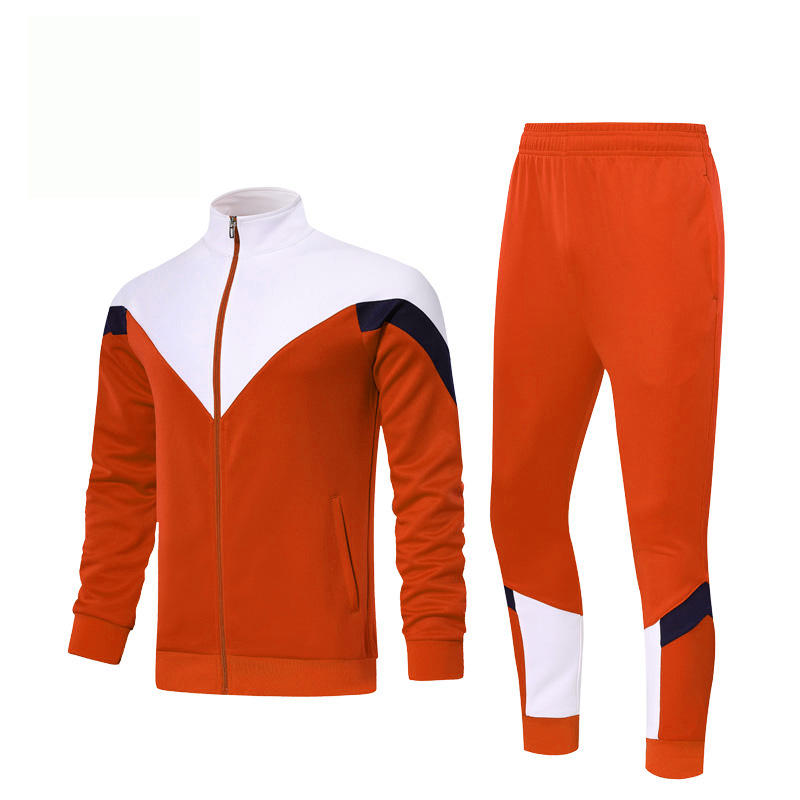 Benefit hot selling unique color cotton sportswear custom no branded tracksuits men