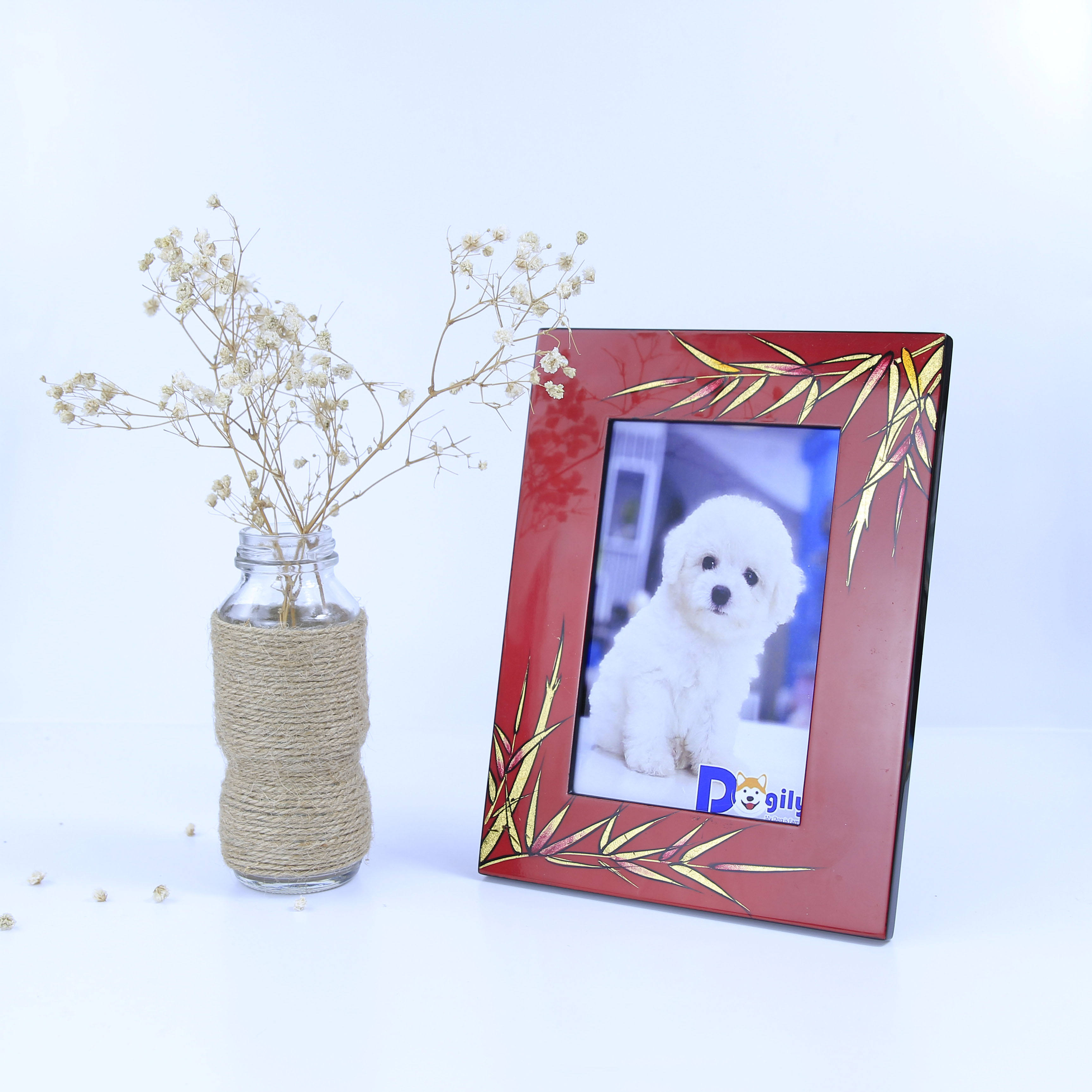 2020 Hot Trend Vietnam Hot Selling Solid Custom Craft Multi-Color High Quality Wooden Lacquer Bamboo Picture Photo Frame
