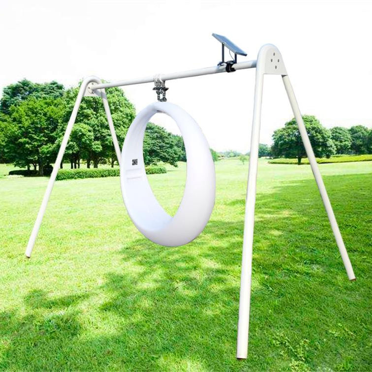 High quality waterproof free-customized glow LED solar panel patio swing