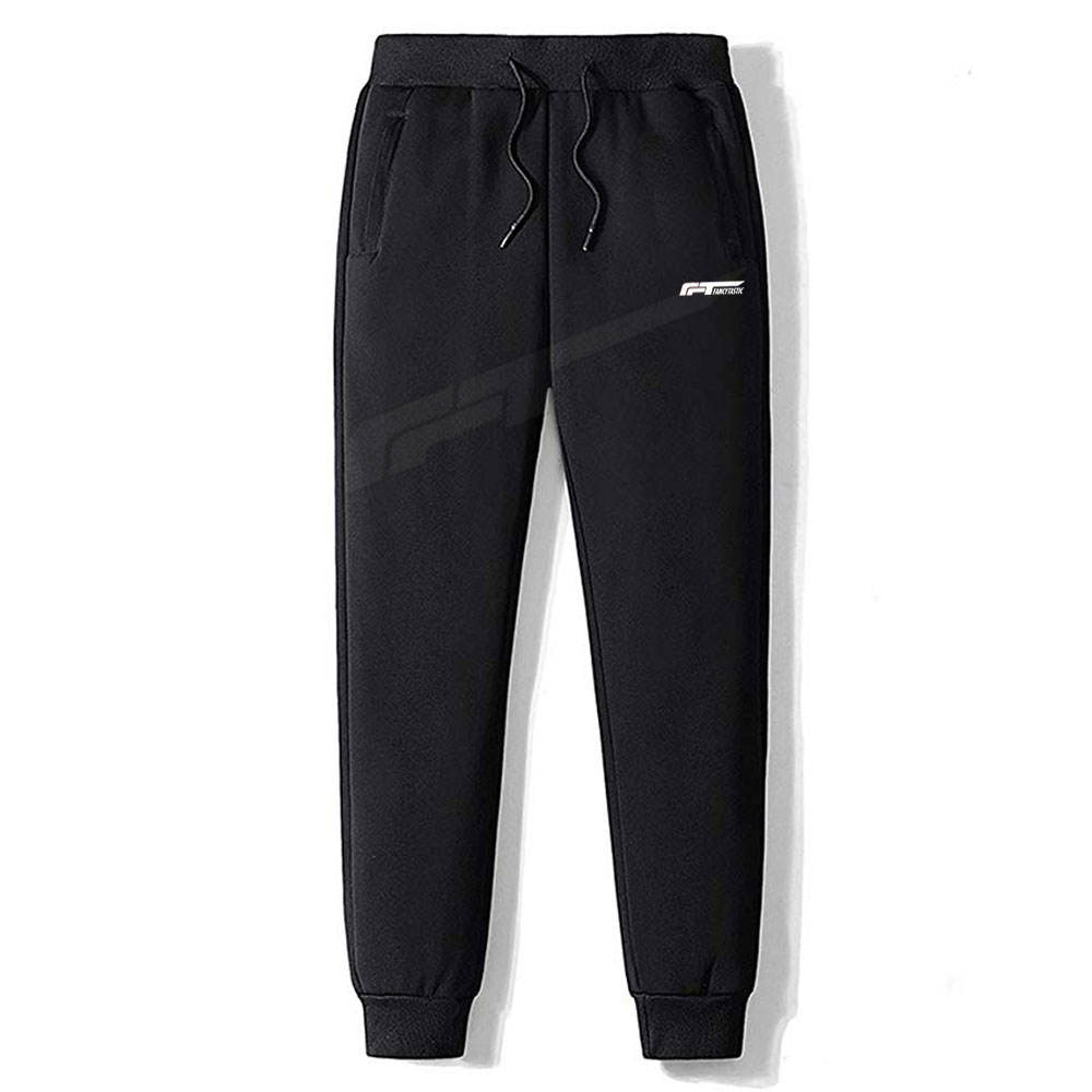 Men Latest Design Trousers Men Adjustable Waist Trousers OEM Service Breathable Fabric Men Jogging Trousers In Black Color