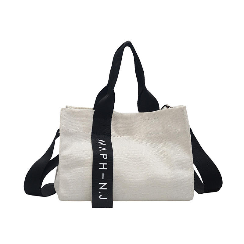 school college students canvas fashion bags hand bags women