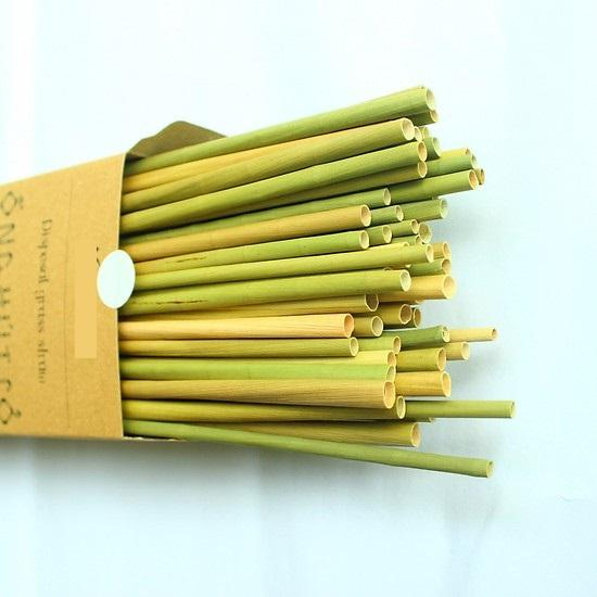 Natural disposable biodegradable grass straws for drinking only in Vietnam