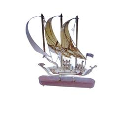 Brass Ship Detailed Wooden New Style Model Nautical Decor