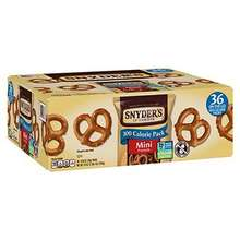 Snyder's of Hanover Pretzels Bulk Packaged Pretzel Snacks 36 Count