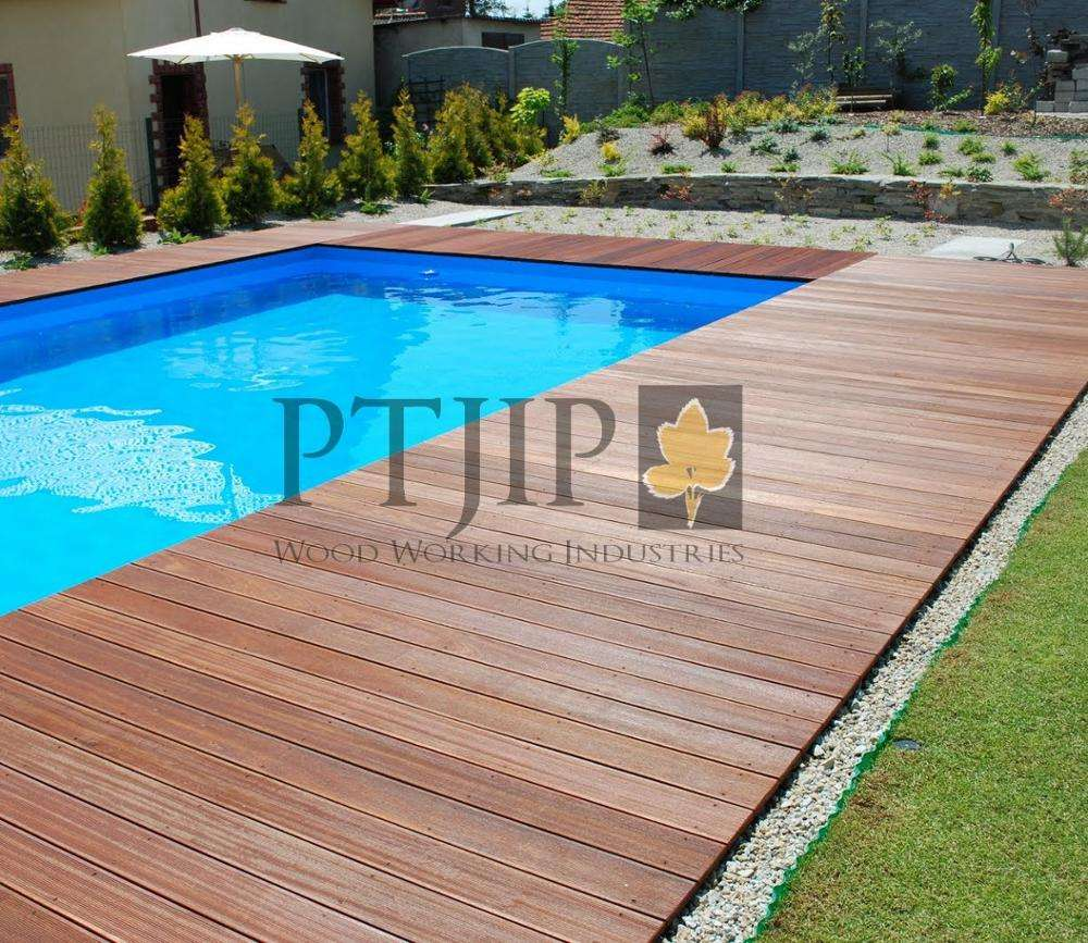 Indonesian Wooden Flooring for decking with material Bangkirai Wood for Outdoor Use in Hotel, Resort and Home