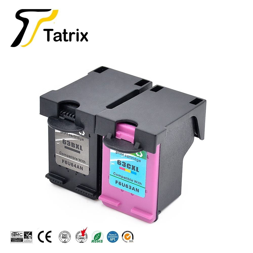 Tatrix 63XL Inkt Cartridge 63 Premium Remanufactured Kleur Inkjet Cartridge Voor Hp Deskjet 1112 2132 Printer