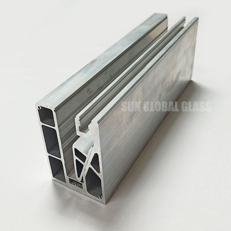 u channel for tempered laminated glass railing custom aluminium profile u-channel steel hardware for fence balustrade handrail