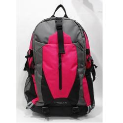 Pink And Grey Travel Backpack Bag/ Rucksack Bag