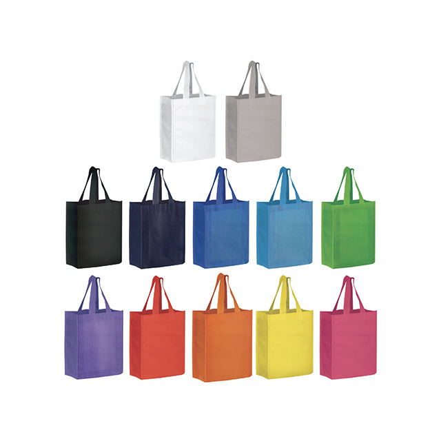 Colorful A4 Recyclable Custom Ecobags Fashion Style Stocked Non Woven Supermarket Environmentally Friendly