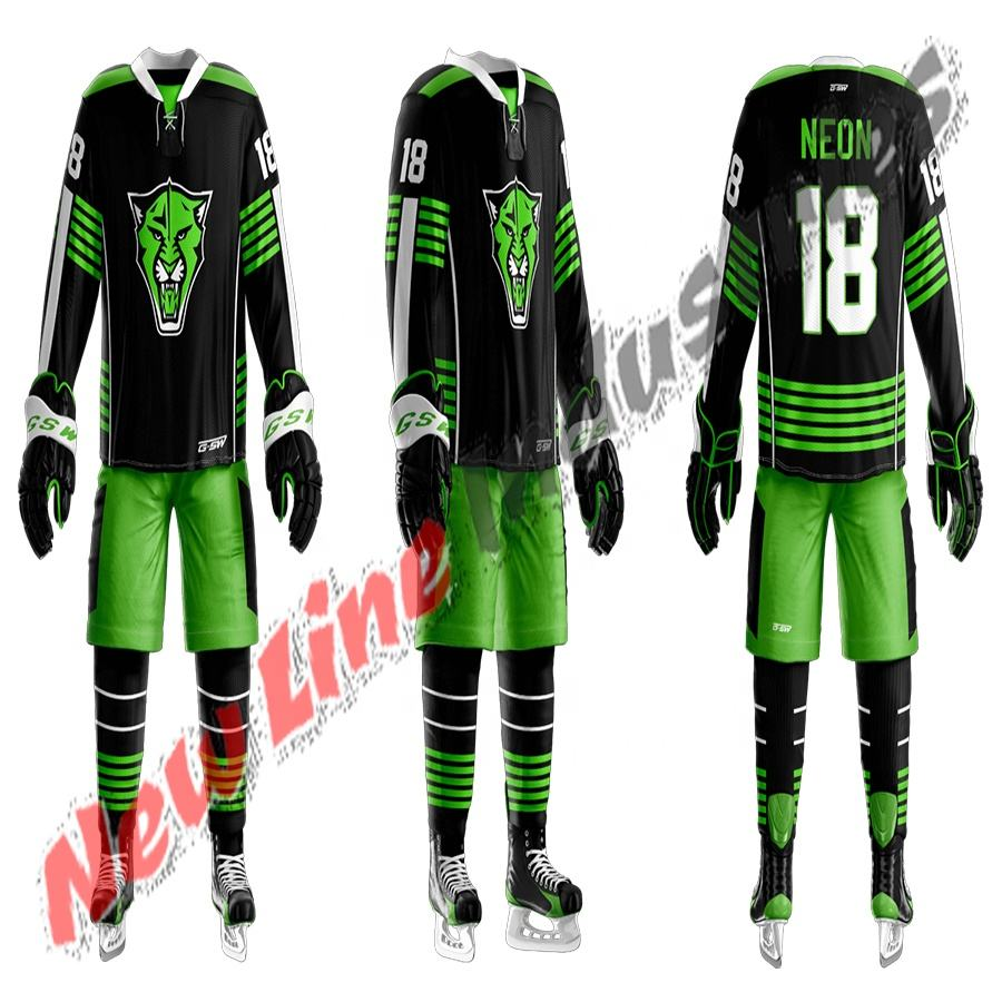 ice hockey wear custom design hockey jersey sublimated