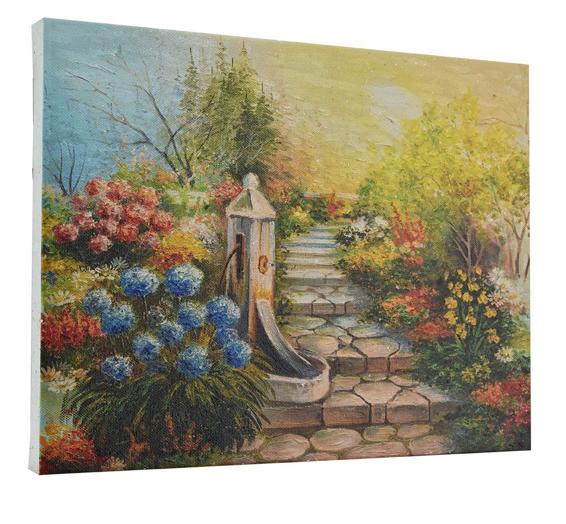 Landscape painting stone stairs in the forest (38223007)home decoration pieces
