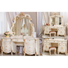 Latest Design Luxury Dressing Table Modern Dressing Table With Mirror Home Furniture Designer Wooden Carved Dressing Table