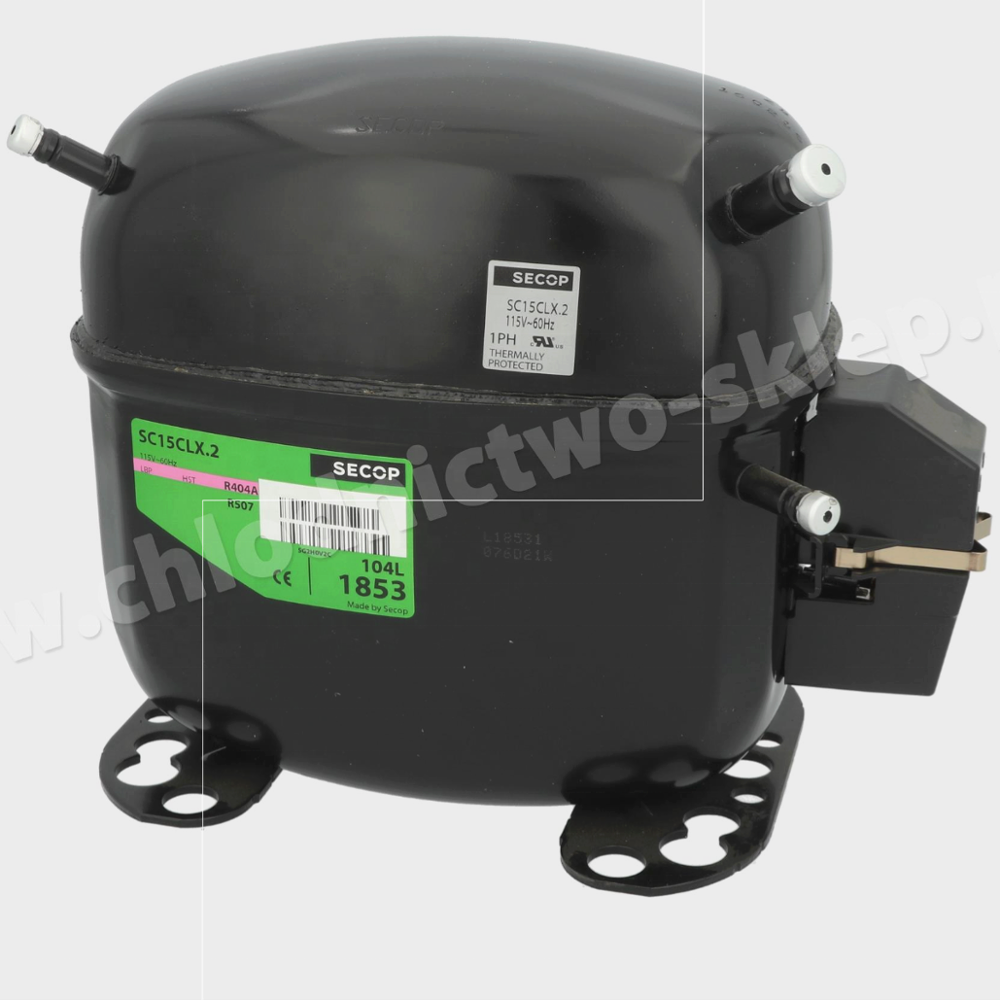115V compressor Secop SC15CLX.2 104L1853 identic as Danfoss R404a/R507 195B3195 European supplier ready to ship