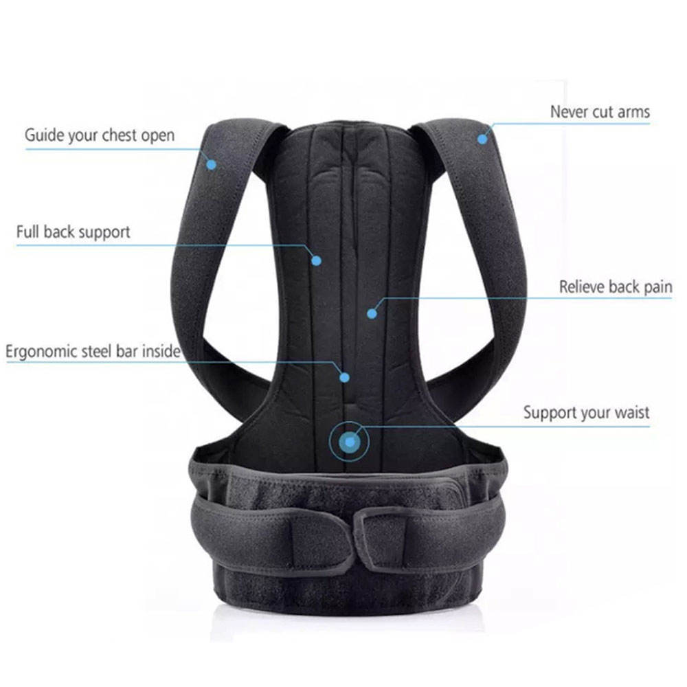 Belt Posture Corrector Belt Smart Electronic Back Relief Correction Adjustable Support Belt Posture Corrector For Adults