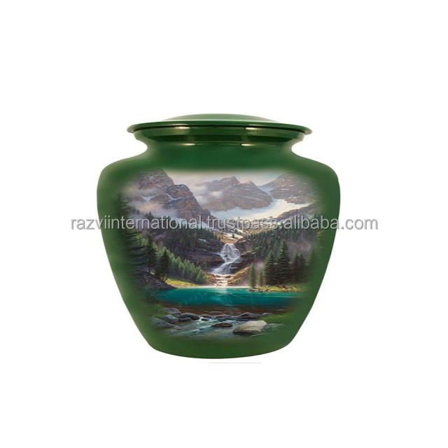 High quality dark green color urns