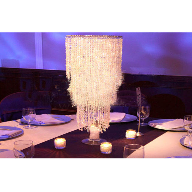 Wedding Crystal Jhoomer Table Decor Indian Wedding Crystal Decoration Gold Crystal Centerpieces