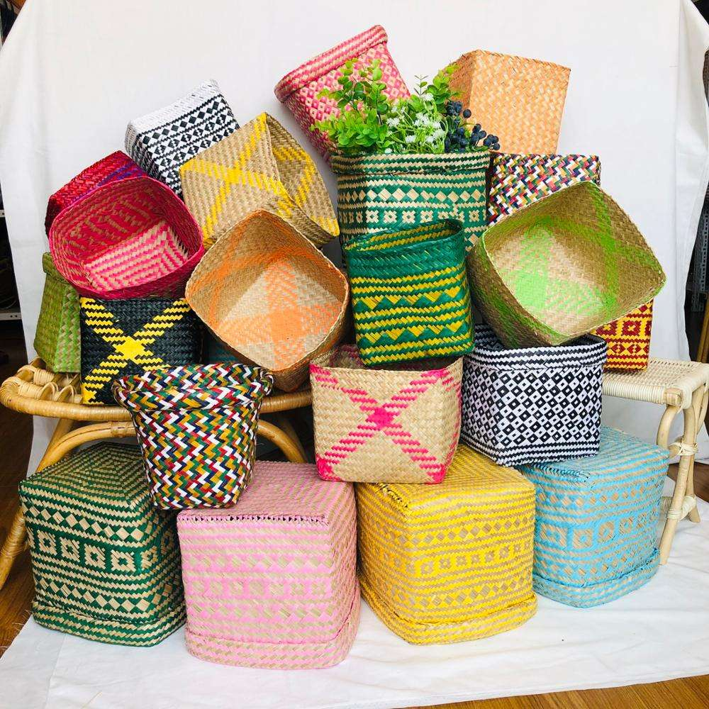 Wholesale colorful small storage basket