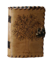 Vintage Tree Of Life Leather Journal Embossed Notebook Office Supplies and Stationery School Supply Sketchbook
