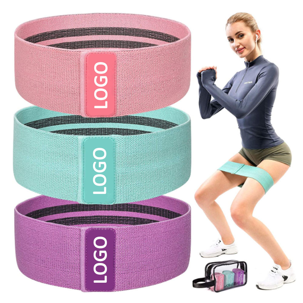 Sports Fitness Resistance Loops Bands, Anti Slip Hip Bands Exercise Bootie