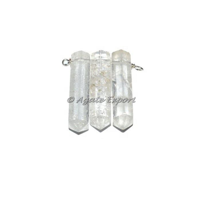 Crystal Quartz Joint Potlood Gewikkeld Hangers
