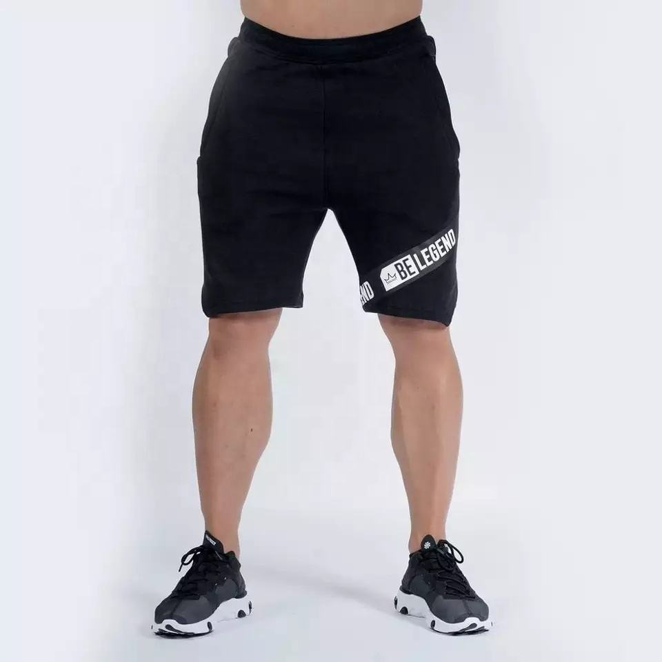 Fashion Casual Men Gym Sports Workout Jogging Cotton Drawstring Shorts Half Pant , Summer Casual Shorts Fitness Workout Shorts