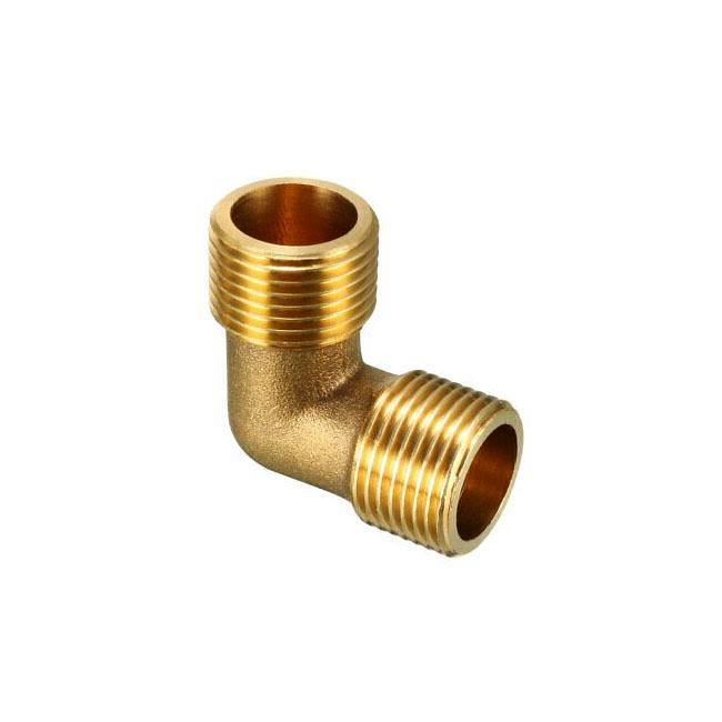 CNC Made Brass Fitting Male To 90 Degree Elbow Connector With Nickel & Chrome Plated Surface Treatment