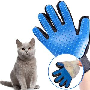 New Updated 259 Pins Efficient Massage TrueTouch Deshedding Glove Gentle Brush Glove Pet Hair Remover Dog Pet Cat Grooming Glove