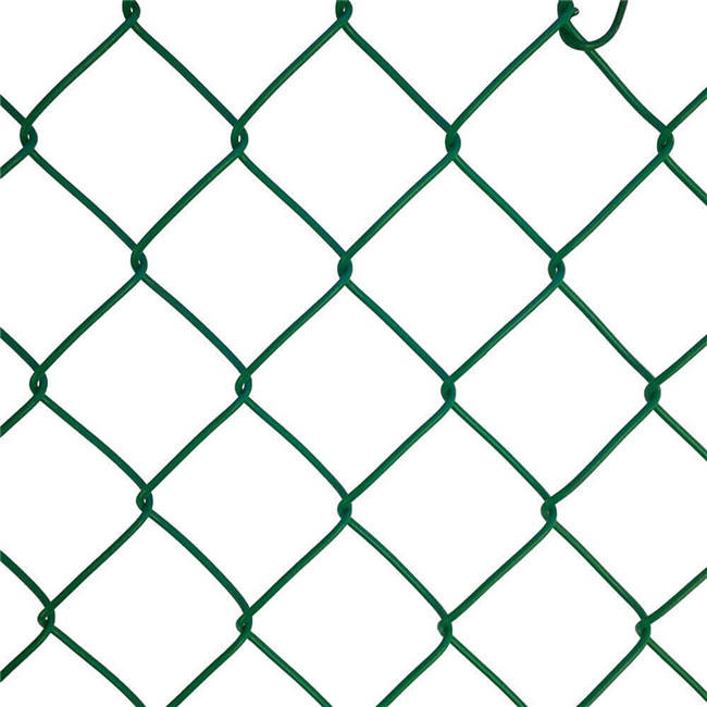 Hot sale Hot Dip Galvanized Chain Link Fence 6 foot dark green PVC Coated decorative Chain Link Fence