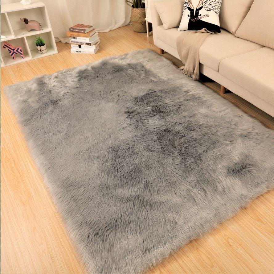 Very Soft Indoor Large Fluffy lamb fur Carpets Modern imitated animal fur Area mats Rugs Shaggy faux sheepskin fur carpets