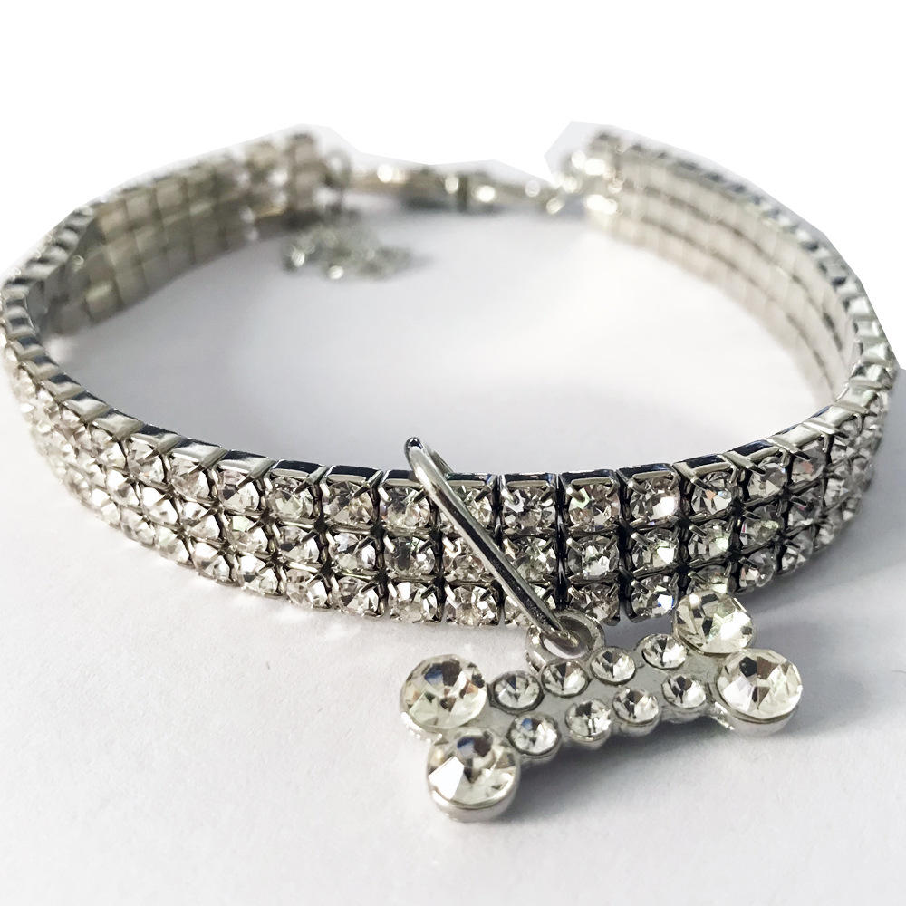 Rhinestone diamond luxury pet collar dog jewelry cat necklace pet accessories