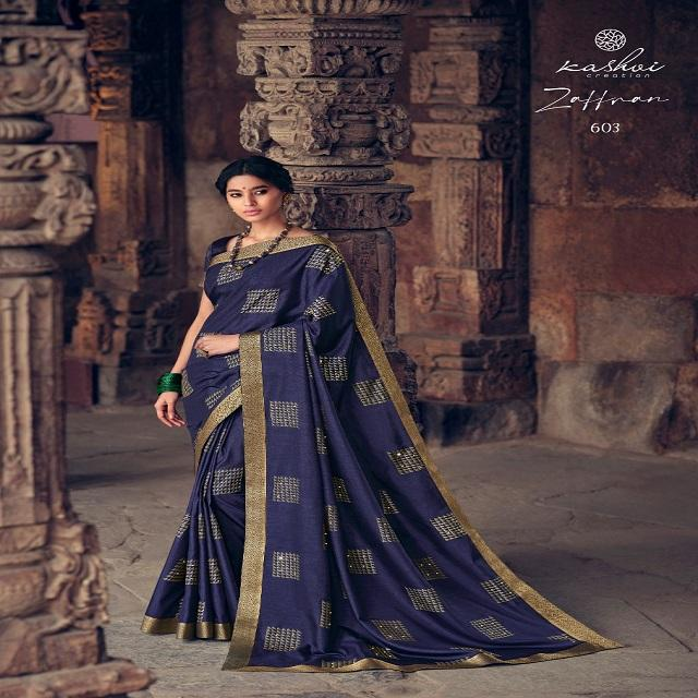 Designer vichitra silk with gold printed fancy saree ethnic wear ladies special this seasons daily wear saree by kashvi zaffran