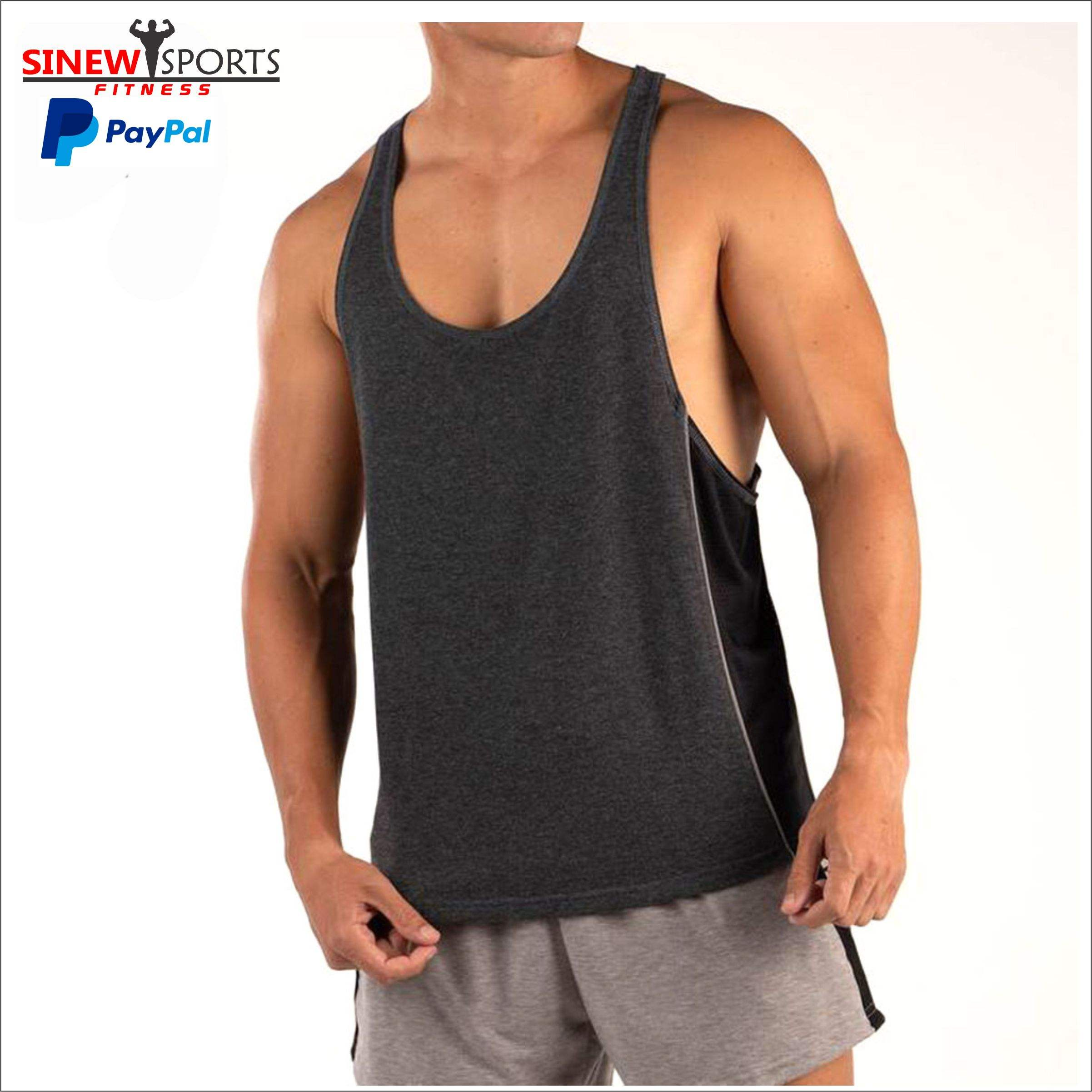 Gym Bodybuilding Workout Vest Men Fitness Muscle Stringer Tank Top Bodybuilding and Fitness