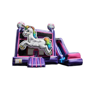 ยอดนิยม castle slide bounce house inflatable fun house