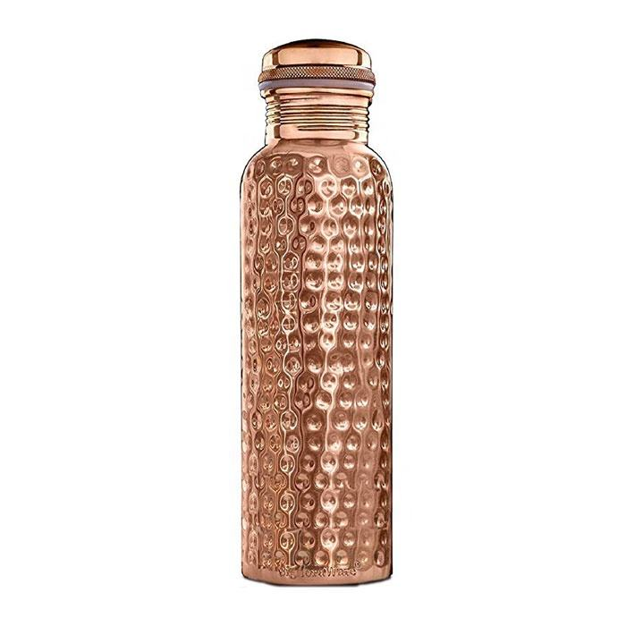 Best Selling Leak Proof and Jointless Hammered Copper Water Bottle