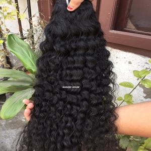 Nandee house Hair Extension, Natural Color Remy Jerry Curl Weave Extensions Unprocessed Human Hair Indian Virgin Hair