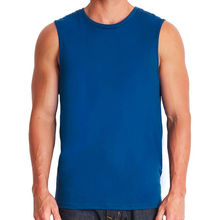 Men's Muscle Tank Sleeveless Raglan sportswear college T-Shirt