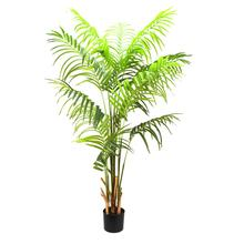 Artificial Greenery Palm Tree Plant Faux Palm In Plastic Pot For Home Decor