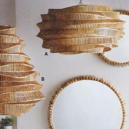 Unique bamboo lamp shades light lantern
