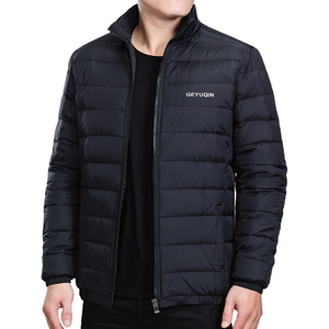 Mens Winter Jacket Warm Wind-breaker Jacket quilted padded puffer Waterproof surface so light Down Jacket Plus Size