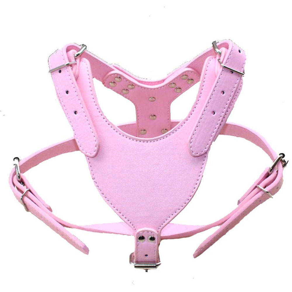 New Soft Leather Dog Harness Large Pitbull Mastiff Boxer Bully Chest In Bulk