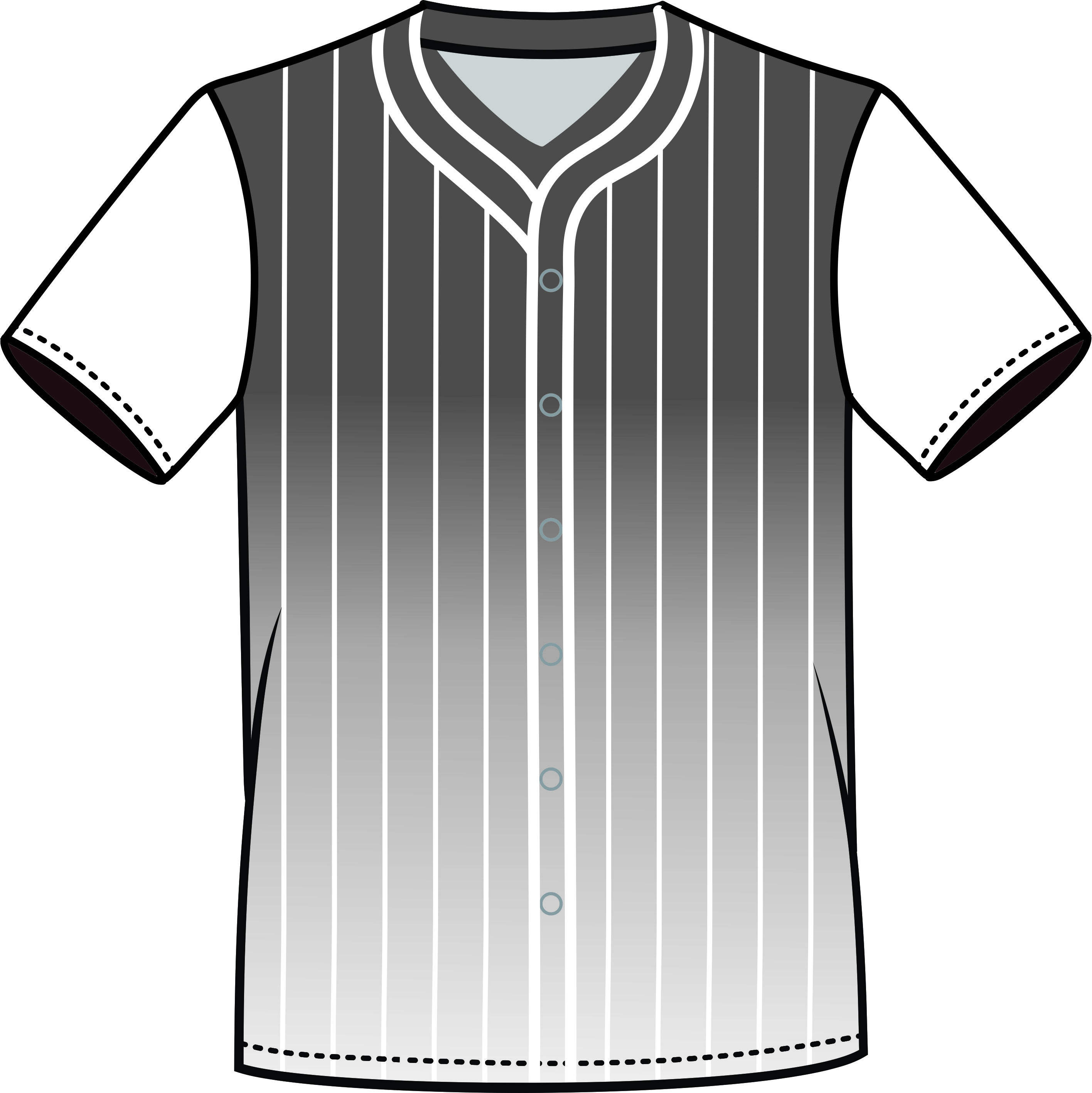 baseball jersey dress / BASEBALL FLOW GRAY & WHITE