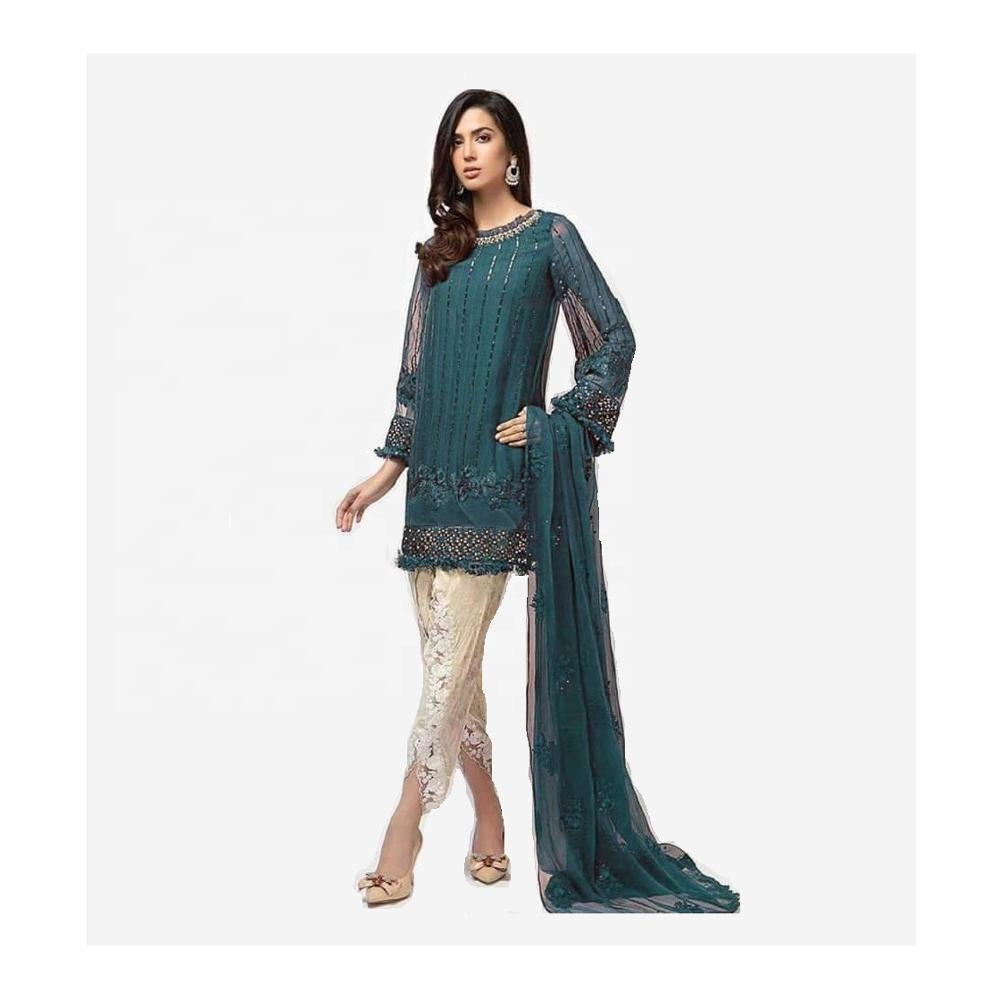 Women Casual Dresses Female Elegant Shalwar Kameez By UJS EXPORTERS