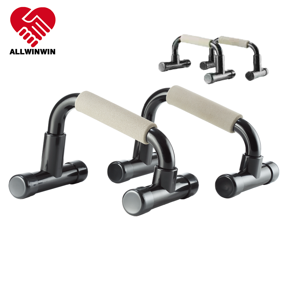 Allwinwin PUB01 Push Up Bar - Slant And Regular Handle Fitness Stand Pair Power Pushup