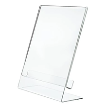SUPER THICK Clear Portrait Frames Slant Back Acrylic Clear Sign Holder Display Stand Brochure and Document Holder